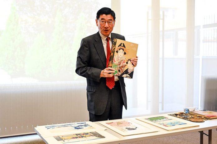Ukiyo-e graphic art presentation at the Japanese Embassy Junichi Maruyama