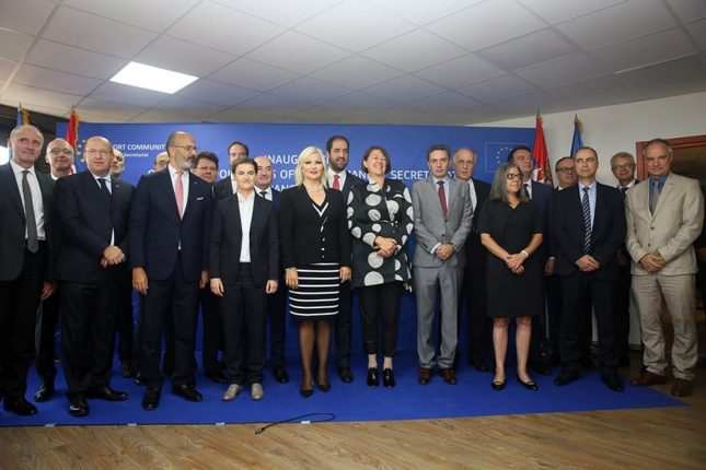 Headquarters of the Transport Community Treaty Opens in Belgrade group photo