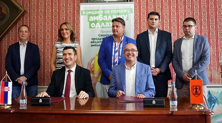 Požarevac and Valjevo get 8 social businesses for packaging waste collection from households