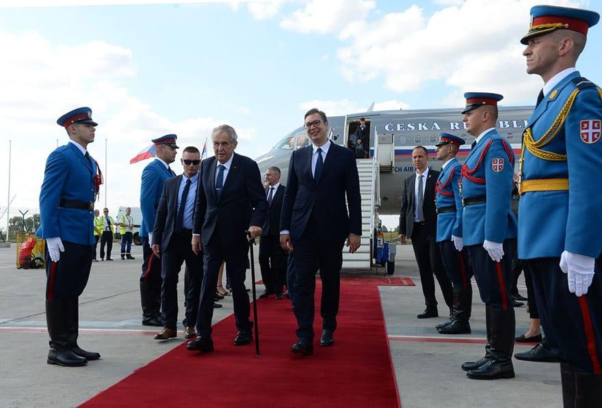 Milos Zeman President of the Czech Republic Visits Belgrade