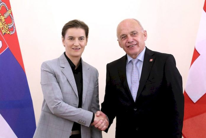 Ana Brnabic and Ulrich Maurer, Support of Switzerland to development of education science in Serbia