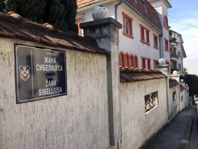 Street in Belgrade named after the world-renowned Finnish composer Jean Sibelius