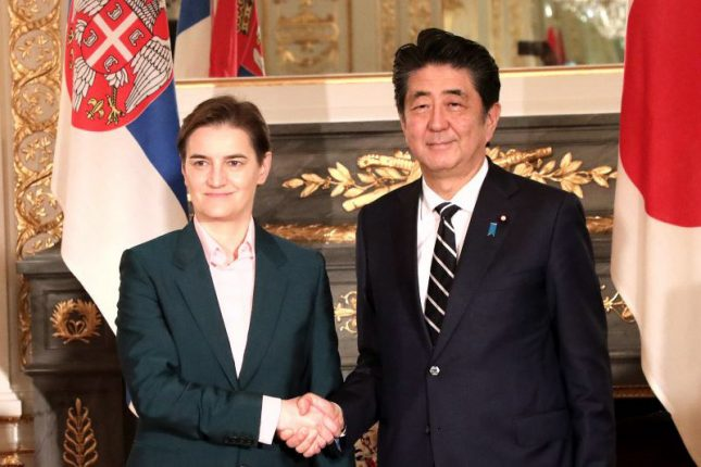 Prime Minister Abe Welcomes Prime Minister Brnabic on her two day visit to Tokyo