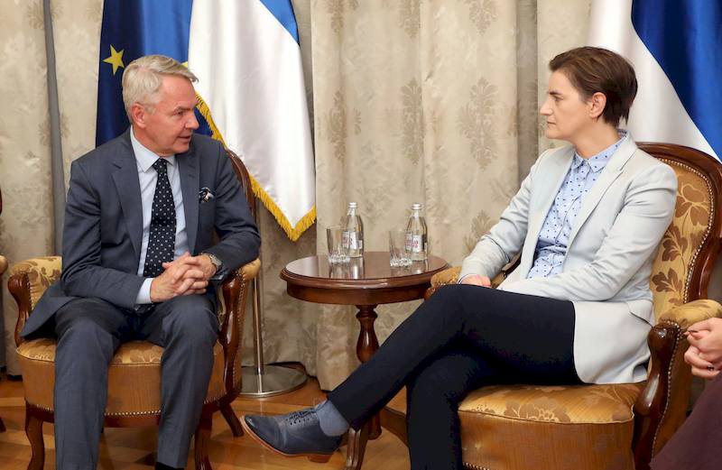 Ana Brnabic and Pekka Havisto