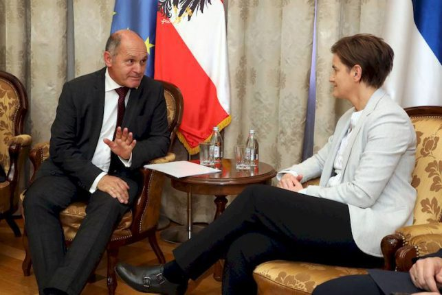 Ana Brnabic meets with Wolfgang Sobotka
