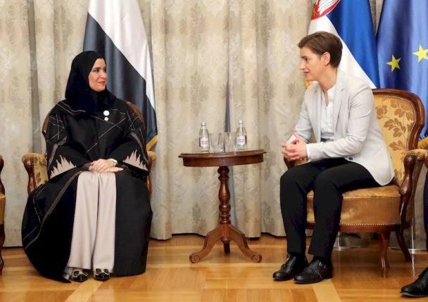 Ana Brnabic meets with Amal al Kubaisi