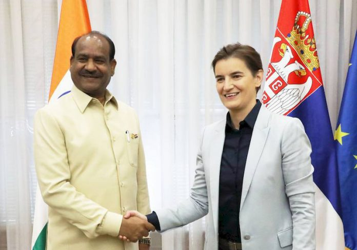 Improving cooperation between Serbia and India Ana Brnabic Om Birla