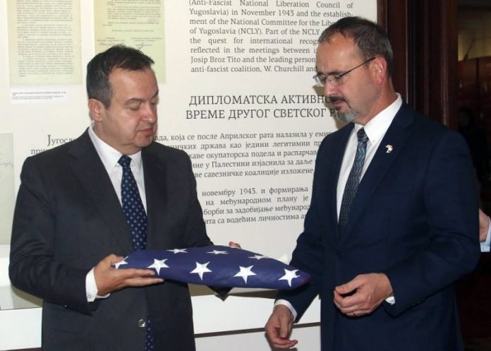 Minister Ivica Dacic Meets US Ambassador Anthony Godfrey