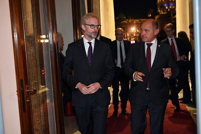Austrian Embassy Celebrates National Day Nikolaus Lutterotti Wolfgang Sobotka