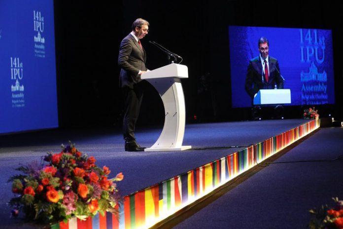 Opening ceremony of 141st IPU Assembly Aleksandar Vucic