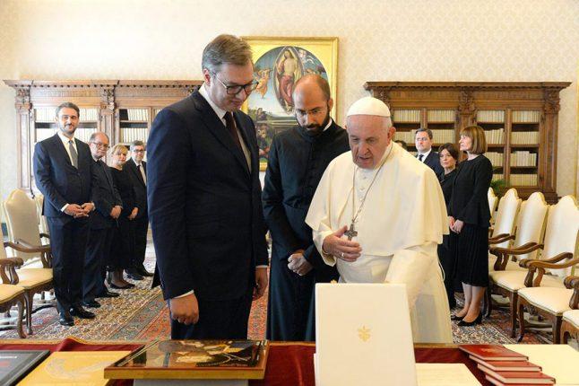 Aleksandar Vucic Pope Francis 2019