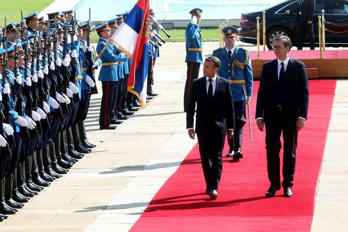Emmanuel Macron and Aleksandar Vučić