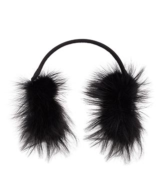 Fendi fox fur earmuffs