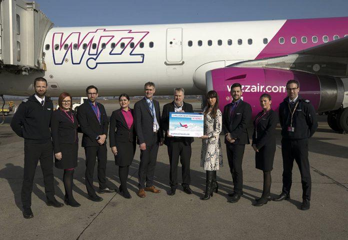 Wizz Air celebrates 5th million passengers in Serbia