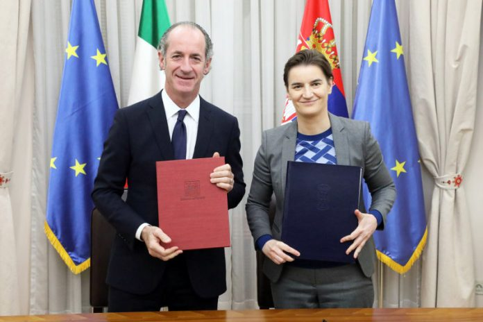Expansion of cooperation with Italian region of Veneto Brnabic Luca Zaia