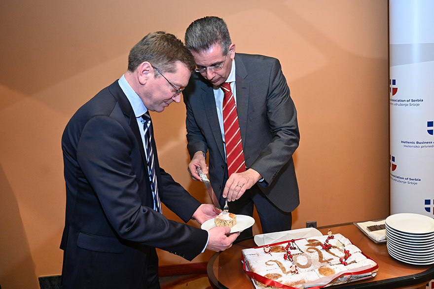 Vasilopita Cutting 2020 Hellenic Business Association
