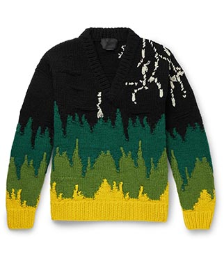 Prada Multi Intarsia Virgin Wool Sweater