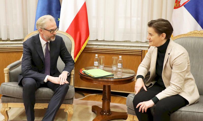 PM Brnabic meets with Austrian Ambassador Lutterotti