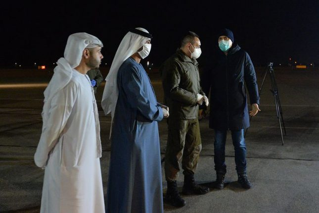 Plane from the UAE with medical aid arrived in Serbia Mubarak Saeed Al Dhaheri