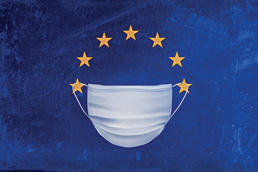 European Union flag coronavirus EU