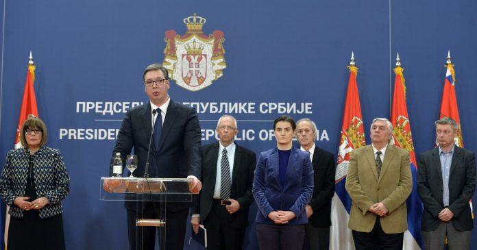 Aleksandar Vucic state of emergency Serbia