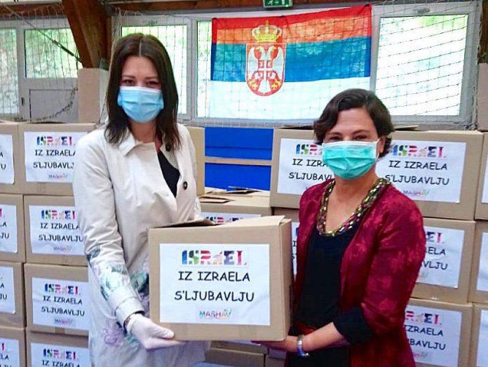 Alona Fisher Kamm Ambassador of Israel donation to Serbia coronavirus Israel assists Belgrade senior citizens