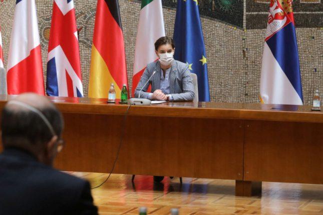 Ana Brnabic Quint Ambassadors Commend Serbia's Response to Coronavirus