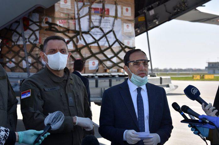 Serbia receives assistance from Turkey Tanju Biglic Aleksandar Vulin