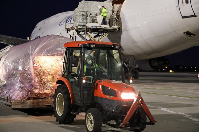 Two More Planes Arrive in Belgrade Equipment Purchased by Serbia Transport Paid by EU coronavirus covid