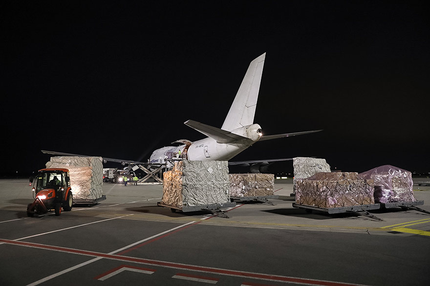 Two More Planes Arrive in Belgrade Equipment Purchased by Serbia Transport Paid by EU serbia coronavirus covid