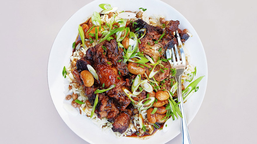 recepti Braised Oxtails With Coconut Rice
