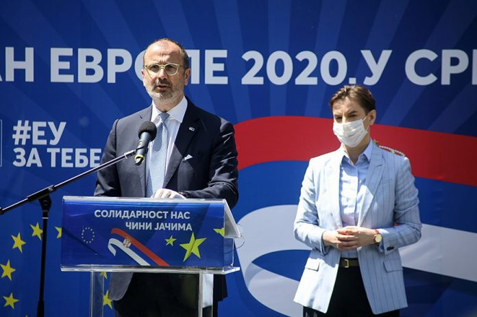 Sem Fabrizi Ana Brnabic Europe Day Marked in Serbia