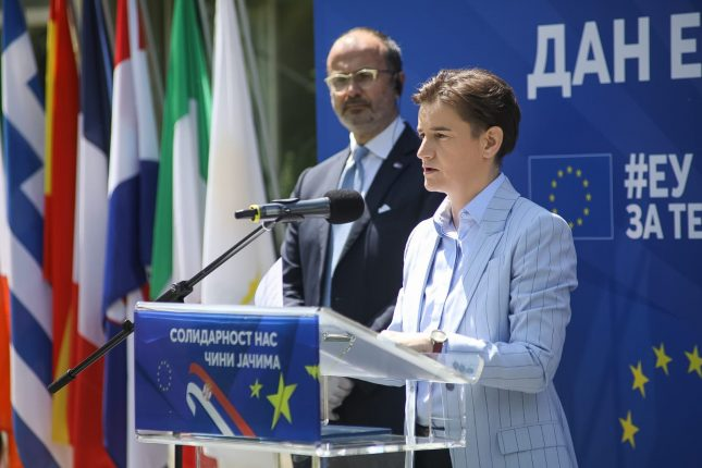 Europe Day Marked in Serbia Dan Evrope Ana Brnabic