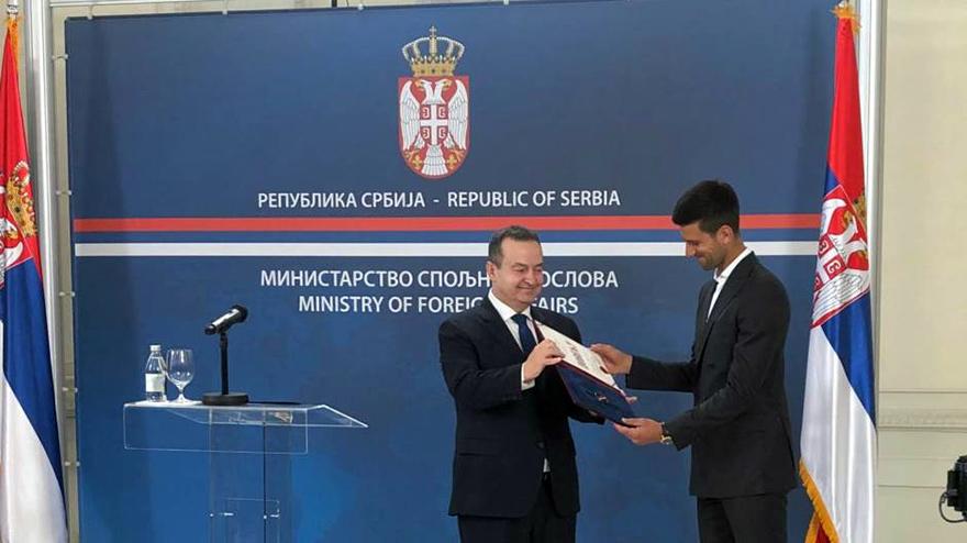 Diplomacy Dazy Serbia Ivica Dacic Novak Djokovic