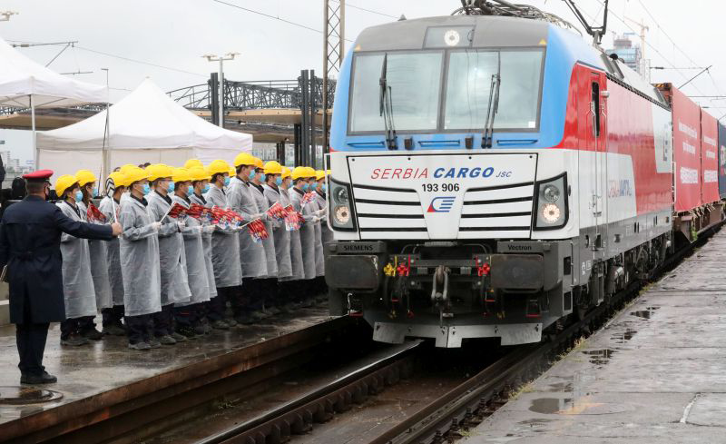 voz medicinska oprema iz Kine Train With Medical Equipment From China Arrived in Serbia