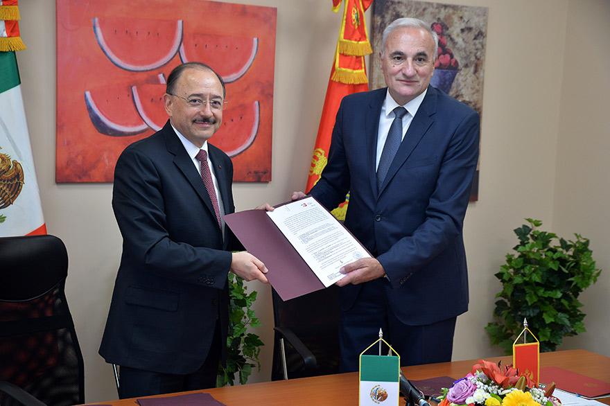 Meksiko i Crna Gora potpisali Memorandum o razumevanju o diplomatsko-akademskoj saradnji