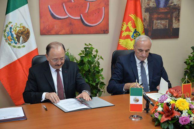 Ambasadori Meksika i Crne Gore potpisali memorandum