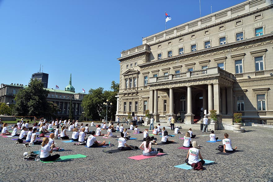 Celebration Of Sixth International Day Of Yoga In Serbia