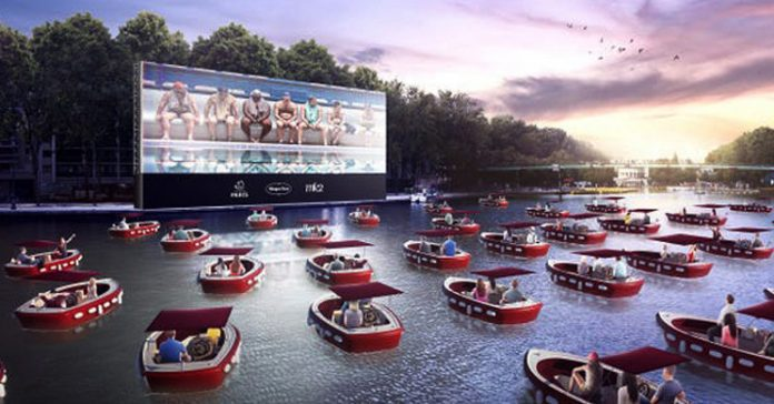 Paris introduces floating movie theatre with socially distant boats