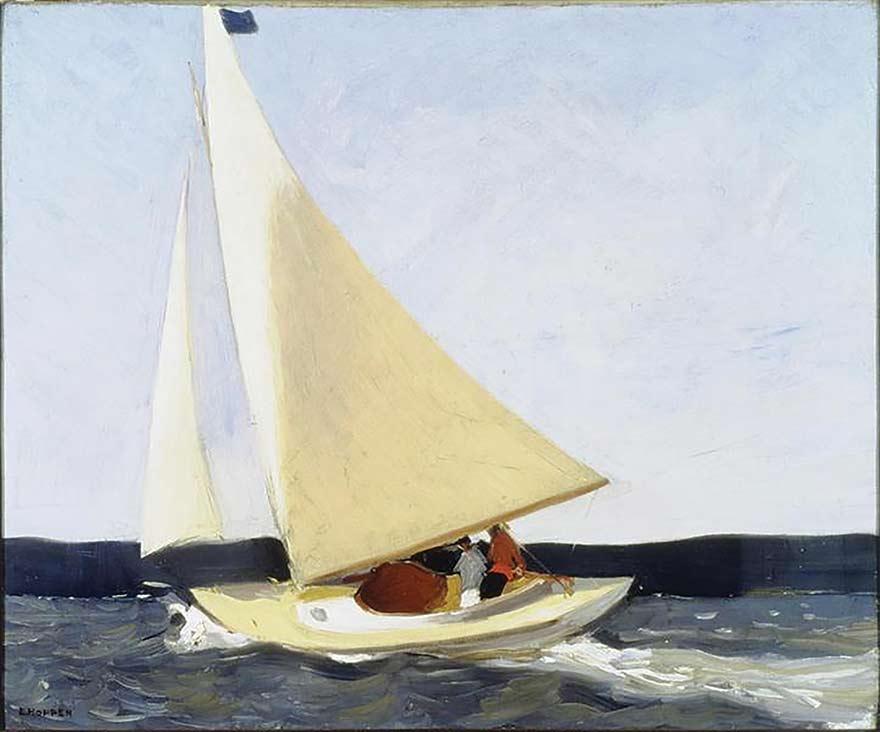 EDWARD HOPPER, SAILING, 1911