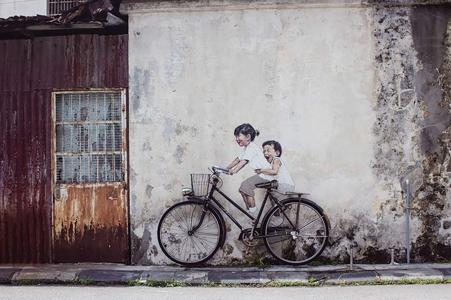 ERNEST ZACHAREVIC, CHILDREN ON BICYCLE, 2012