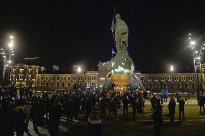 A monument to Stefan Nemanja unveiled on Sava Square