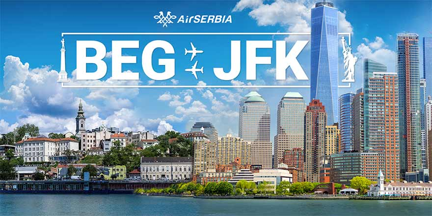 Air Serbia- JFK Terminal 1 New York